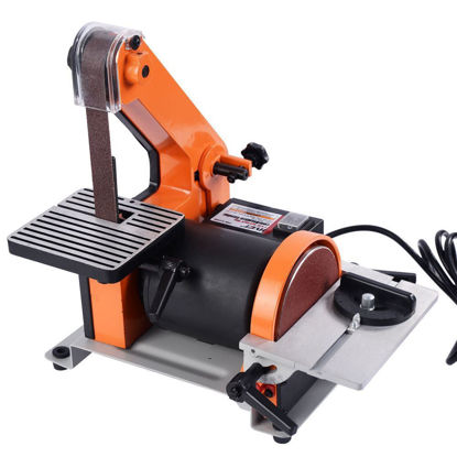 "Picture of 1"" x 30"" Belt 5"" Disc Sander 1/3HP Polish Grinder Sanding Machine"