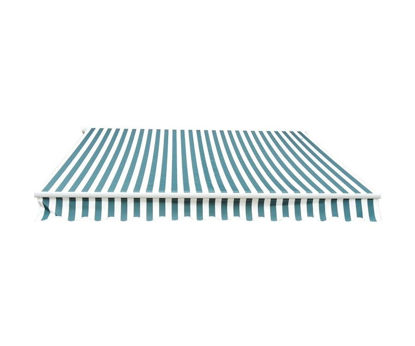 Picture of Outdoor Manual Shade Awning 10' x 8' - Green / White