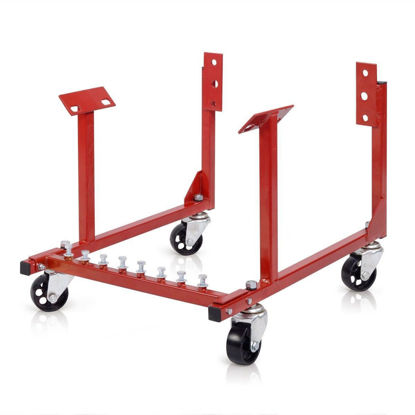 Picture of 1000lb Auto Engine Cradle Stand Chevrolet Chevy Chrysler V8 with Dolly Wheels