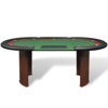 Picture of 10-Player Poker Table with Dealer Area and Chip Tray - Green