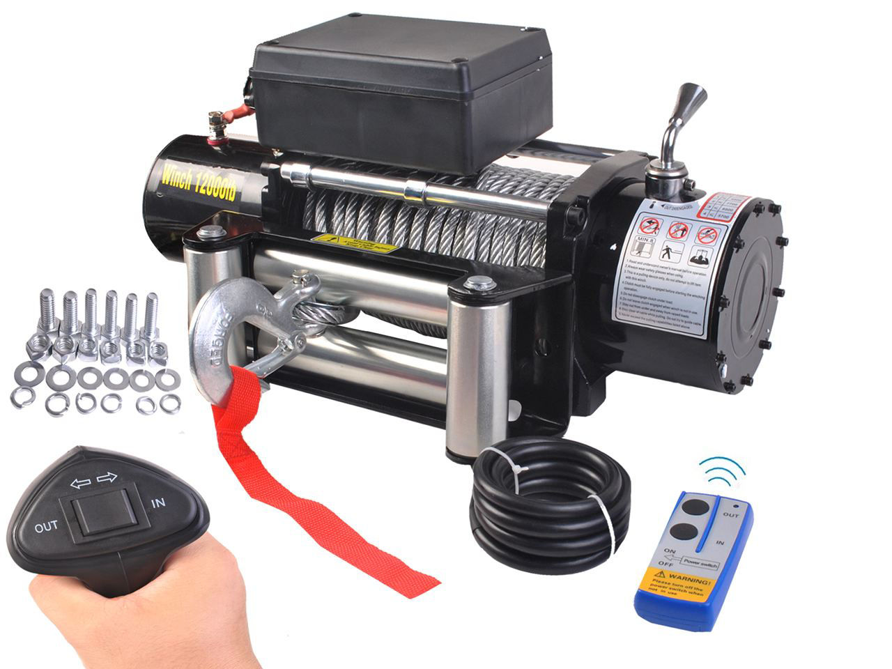Picture of 12000 Lbs 12V Electric Recovery Winch Truck