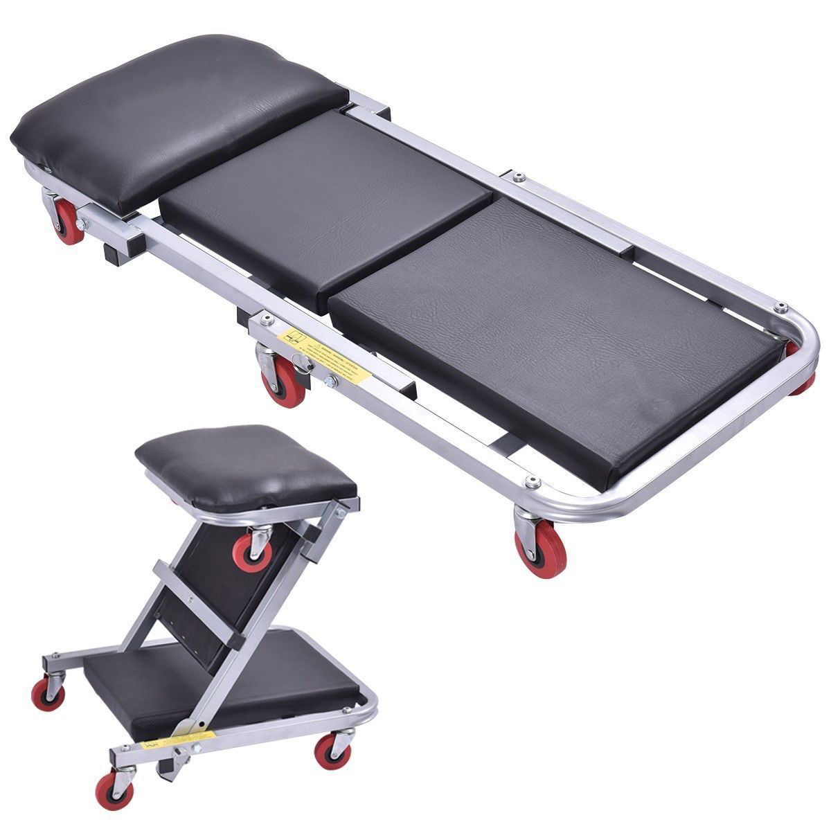 Picture of 2 In 1 Foldable Mechanics Z Creeper Seat Rolling Chair