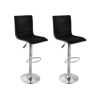 Picture of Kitchen Bar Stools - 2 pc Black