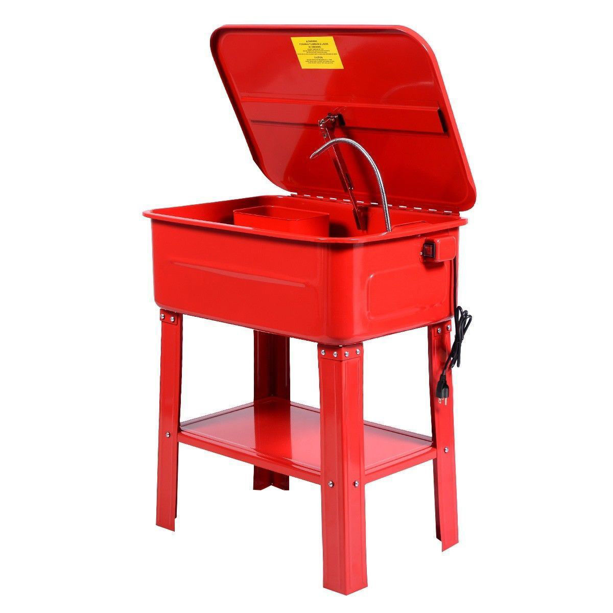 Picture of 20 Gallon Automotive Parts Washer Cleaner Heavy Duty Electric Solvent Pump