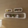 Picture of 3 White MDF Floating Wall Display Shelf Cubes Book/DVD Storage