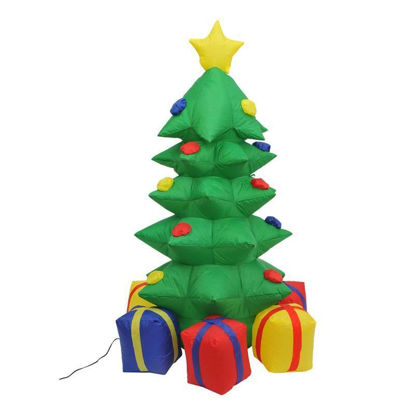 Picture of Outdoor 4' Inflatable LED Lit Christmas Tree Decor