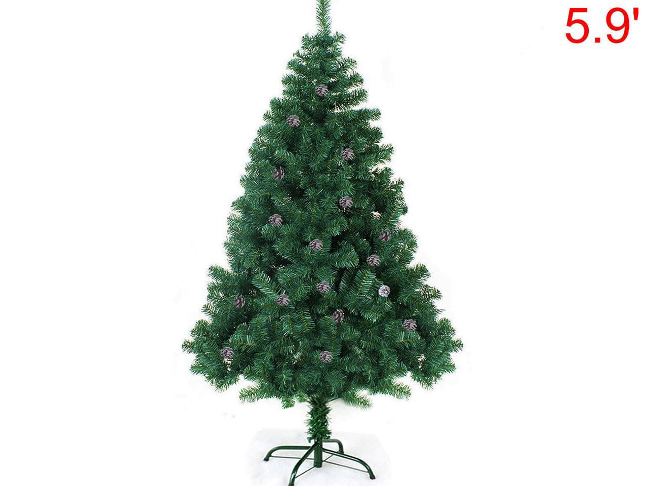 Picture of 6' Artificial Christmas Tree with a Stand and Pine Nut Snow Spray