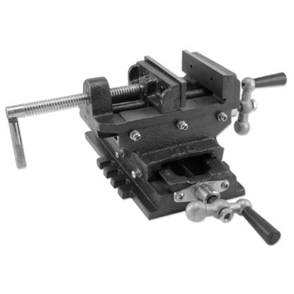 """Picture of 6"""" Cross Drill Press Vise Slide Metal Milling 2 Way X-Y Clamp Machine Heavy Duty"""