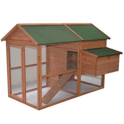 Picture of Outdoor Wooden Chicken Coop Hen House