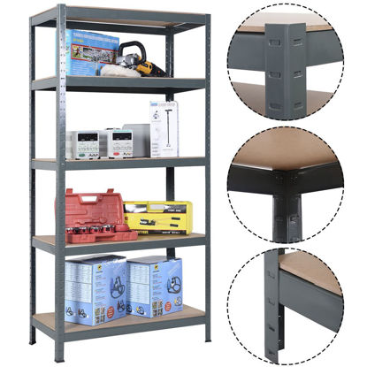 Picture of Adjustable Storage Shelves Metal with 5 levels