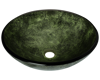 Picture of Bathroom Glass Sink Classic Bowl-Shaped - Green