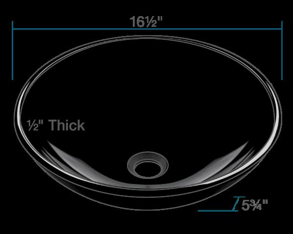 Picture of Bathroom Glass Sink Vessel - Dark Colored