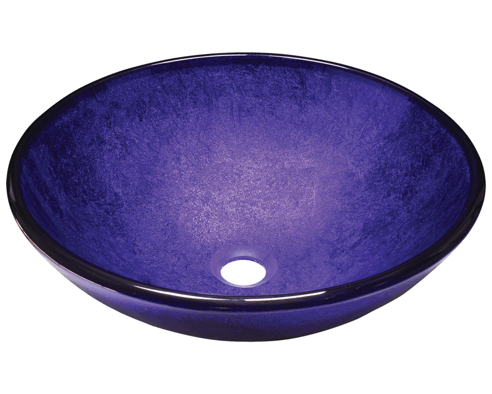 Picture of Bathroom Glass Sink Vessel - Foil Undertone