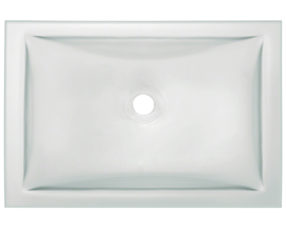 Picture of Bathroom Glass Undermount Sink Rectangular - Colored Glass