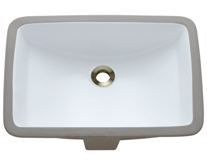 Picture of Bathroom Rectangular Undermount Porcelain Sink