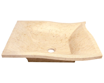 Picture of Bathroom Sink - Egyptian Yellow Marble Vessel