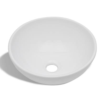 Picture of Bathroom Sink Basin Ceramic Round - White