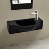 Picture of Bathroom Sink Basin with Faucet Hole Ceramic - Black