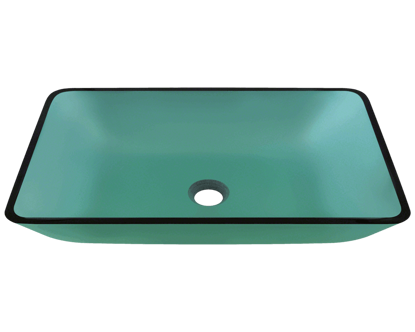 Picture of Bathroom Sink Vessel - Colored Glass