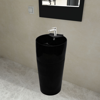 Picture of Bathroom Stand Sink Basin Faucet/Overflow Hole Ceramic - Black