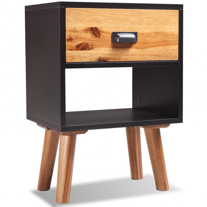 """Picture of Bedroom Bedside Cabinet 15"""" - Solid Acacia Wood"""