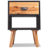 """Picture of Bedroom Bedside Cabinets 2 pcs 15"""" - Solid Acacia Wood"""