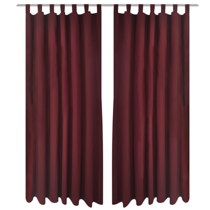"Picture of Bordeaux Micro-Satin Curtains with Loops 55"" x 96"" - 2 pcs"