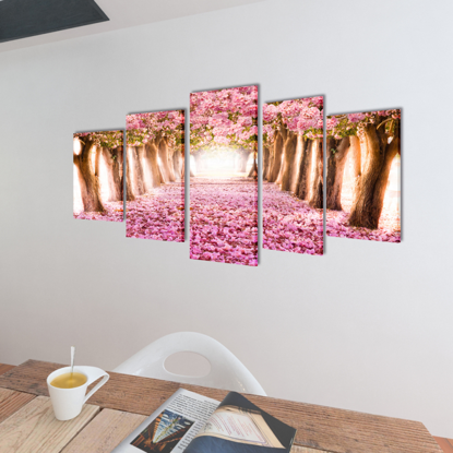 "Picture of Canvas Wall Print Set Cherry Blossom 39"" x 20"""