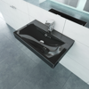 "Picture of Ceramic Basin Rectangular Sink Black with Faucet Hole 23.6"" x 18.1"""