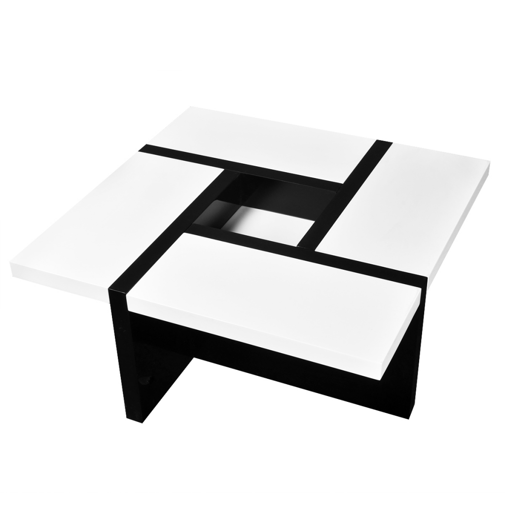 Picture of Coffee Table High Gloss White and Black