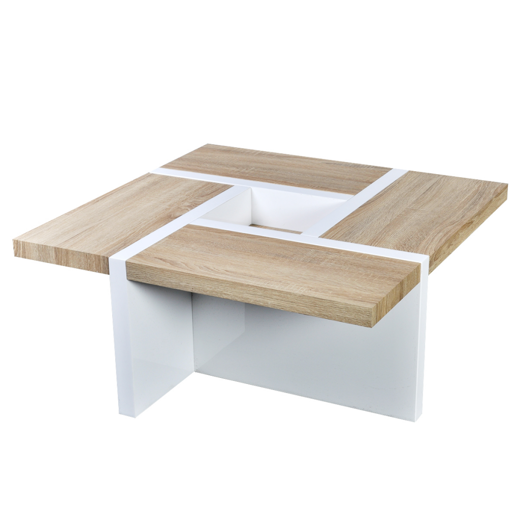 Picture of Coffee Table Oak and High Gloss White