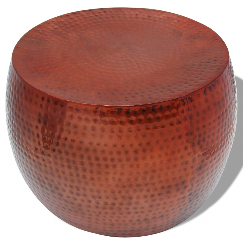 Picture of Coffee Table Round Aluminum with Copper Finish Brown