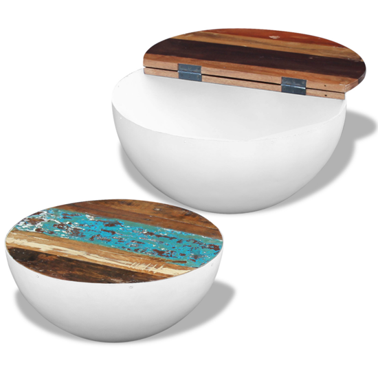 Picture of Coffee Table Set Bowl Shaped - Reclaimed Wood 2 pcs