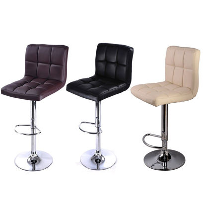 Picture of Dining Bar Stools Adjustable PU Leather - 1 Pcs