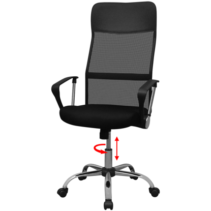 Picture of Desk Office Chair Half PU - Black