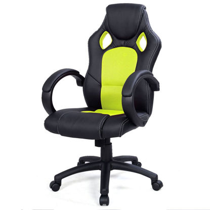 Picture of Desk Office Chair Race Car Style Bucket Seat - Green
