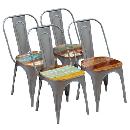 """Picture of Dining Chairs 4 pcs Solid Reclaimed Wood 18.5""""x20.5""""x35"""""""
