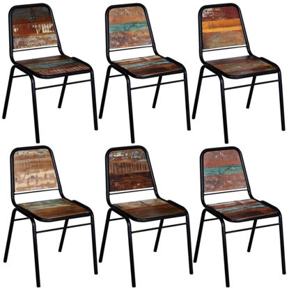 """Picture of Dining Chairs 6 pcs Solid Reclaimed Wood 17.3""""x23.2""""x35"""""""