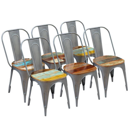 """Picture of Dining Chairs 6 pcs Solid Reclaimed Wood 18.5""""x20.5""""x35"""""""