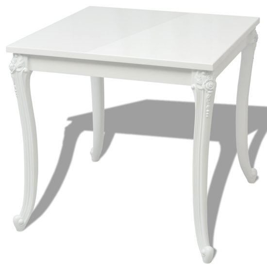 Picture of Dining Table - High Gloss White