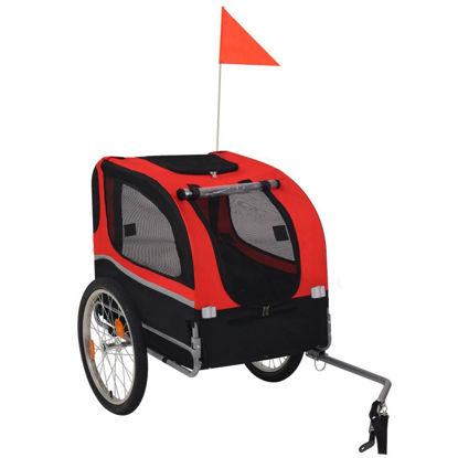 Picture of Dog Bike Trailer Red and Black