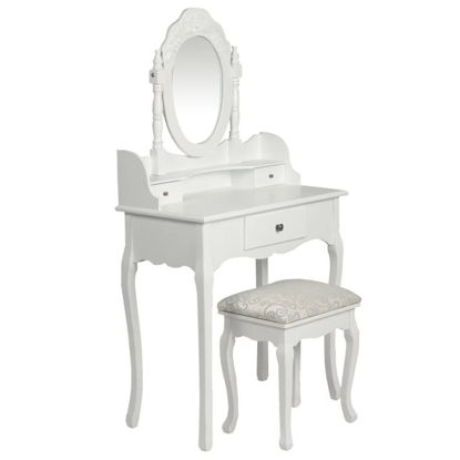 Picture of Dressing table with stool white