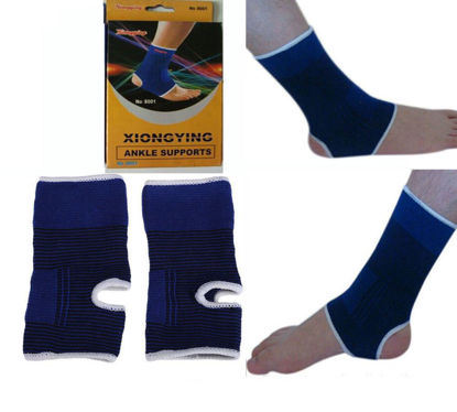 Picture of Elastic Ankle Brace Sleeve Support Arthritis Muscle Pain Relief - 2 pcs