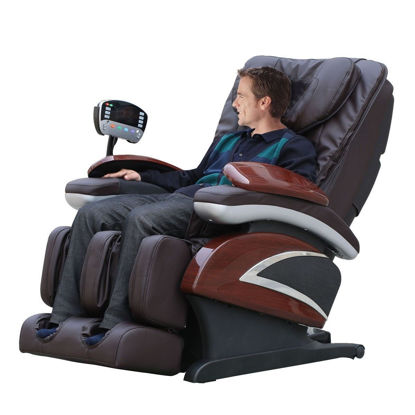 Picture of Electronic Full Body Shiatsu Massage Chair Recliner with Heat Stretched Foot Rest