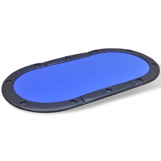 Picture of Foldable Poker Tabletop 10-Player - Blue