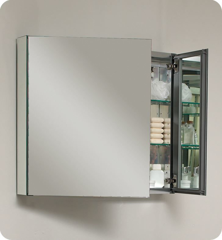 "Picture of Fresca 30"" Wide Bathroom Medicine Cabinet with Mirrors"