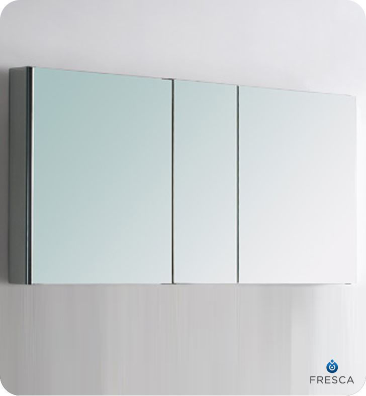 """Picture of Fresca 50"""" Wide Bathroom Medicine Cabinet with Mirrors"""