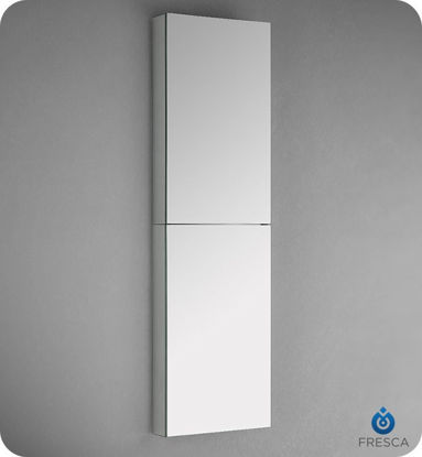 "Picture of Fresca 52"" Tall Bathroom Medicine Cabinet with Mirrors"