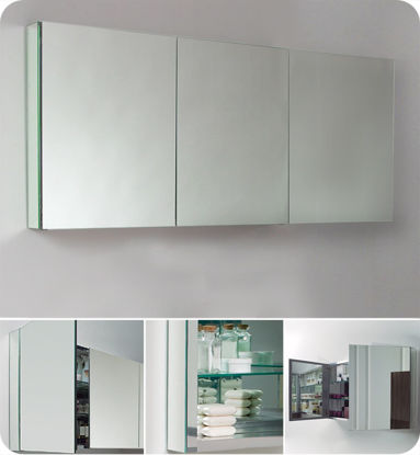 "Picture of Fresca 60"" Wide Bathroom Medicine Cabinet with Mirrors"