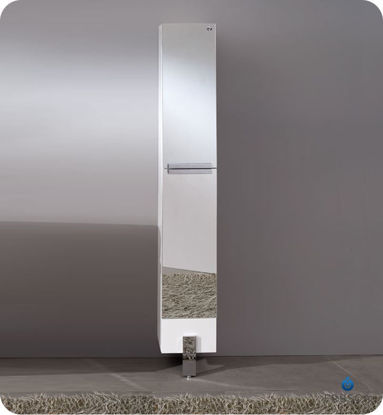 Picture of Fresca Adour Mirrored Bathroom Linen Side Cabinet